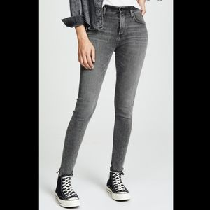 Agolde Sophie High Rise Skinny Jeans in Gray